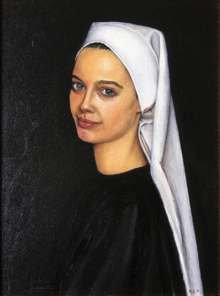 "Oil on Canvas, 20"" x 16"""